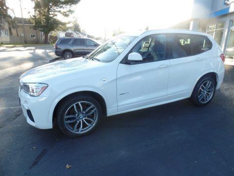 Mineral White Metallic 2017 BMW X3 xDrive35i