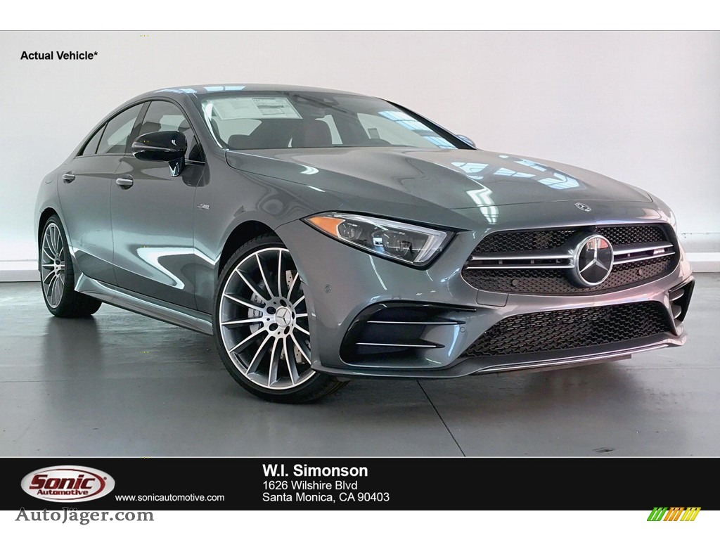 Selenite Grey Metallic / Bengal Red/Black Mercedes-Benz CLS AMG 53 4Matic Coupe