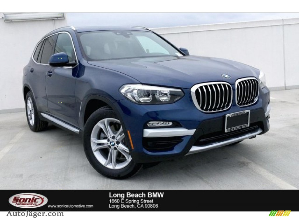 2019 X3 sDrive30i - Phytonic Blue Metallic / Black photo #1