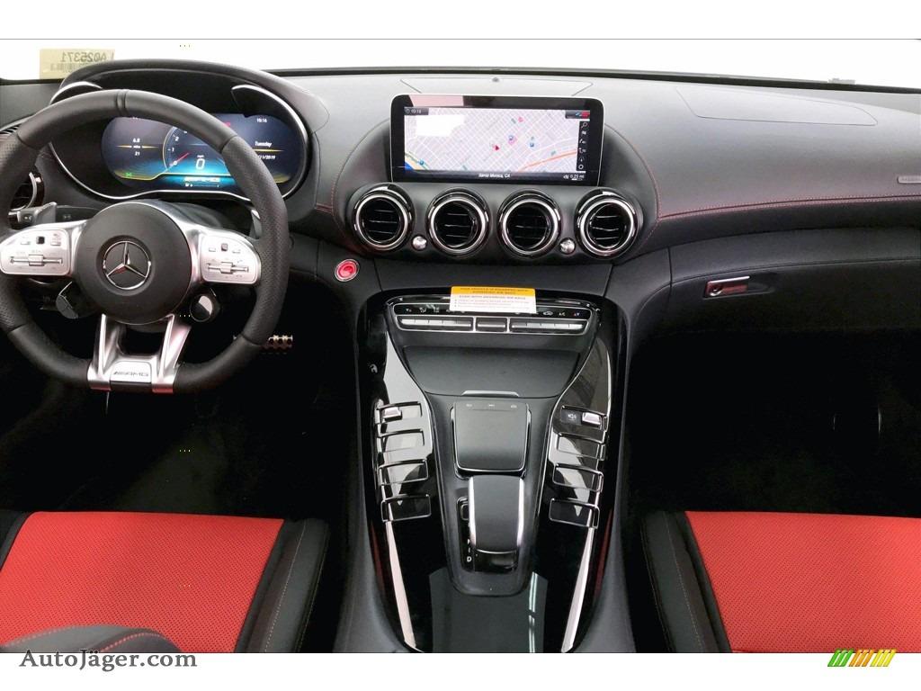 2020 AMG GT Coupe - designo Iridium Silver Magno (Matte) / Red Pepper/Black photo #15
