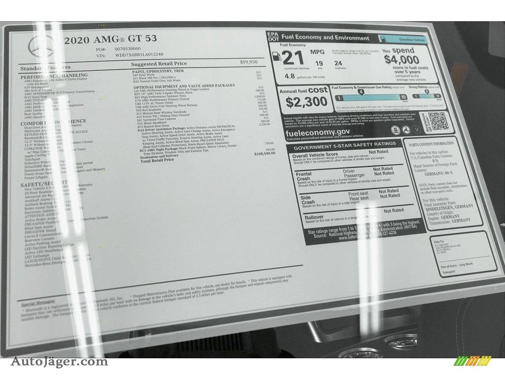 2020 AMG GT 53 - Polar White / Black w/Dinamica photo #11