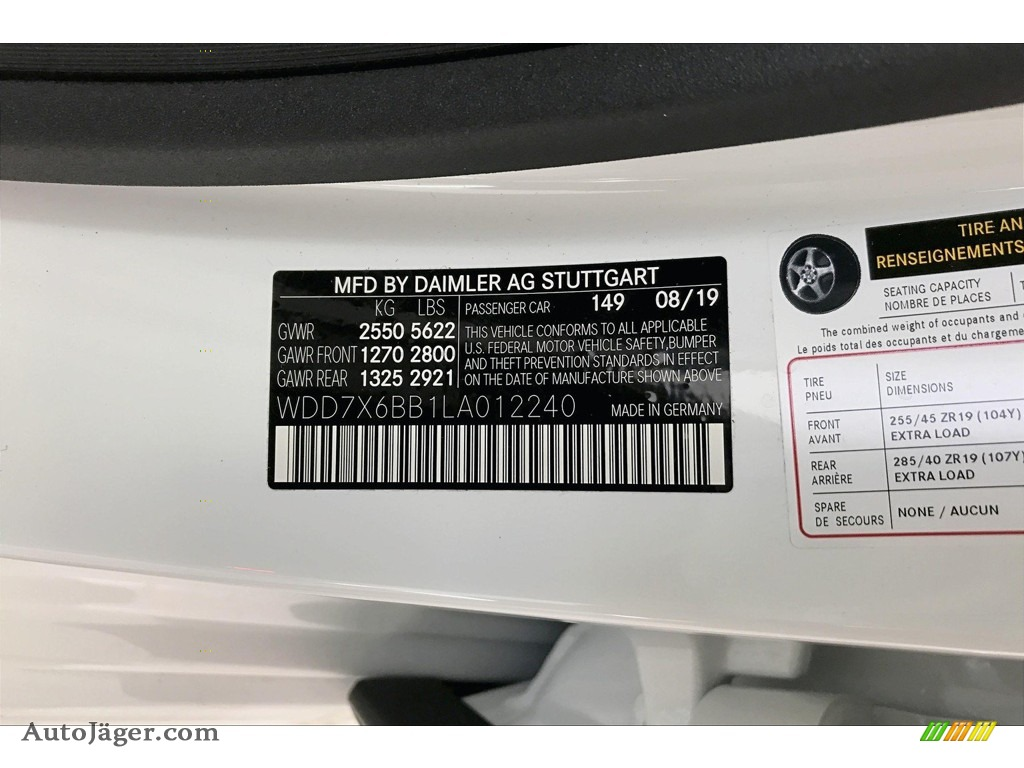 2020 AMG GT 53 - Polar White / Black w/Dinamica photo #24