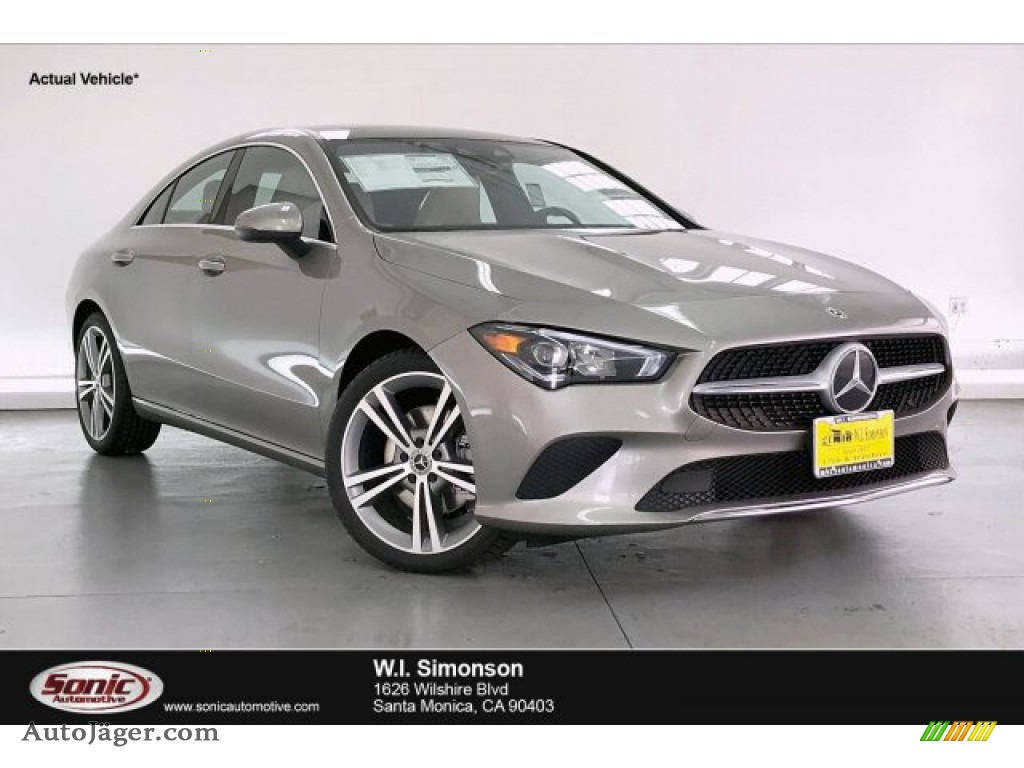 2020 CLA 250 Coupe - Mojave Silver Metallic / Macchiato Beige photo #1
