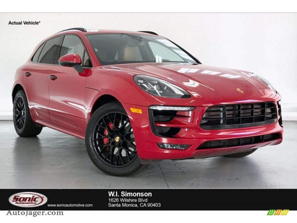 2018 Macan GTS - Carmine Red / Black/Luxor Beige photo #1