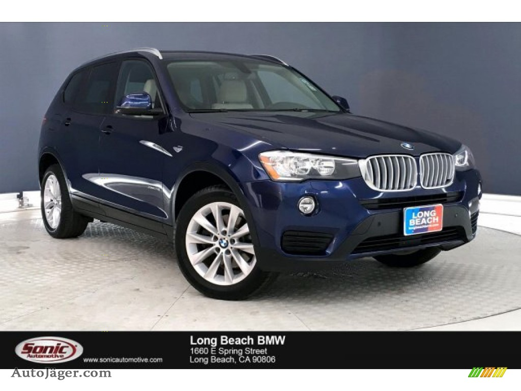 Deep Sea Blue Metallic / Ivory White w/Red contrast stitching BMW X3 xDrive28i