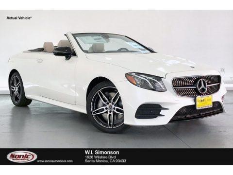 designo Diamond White Metallic 2020 Mercedes-Benz E 450 4Matic Cabriolet