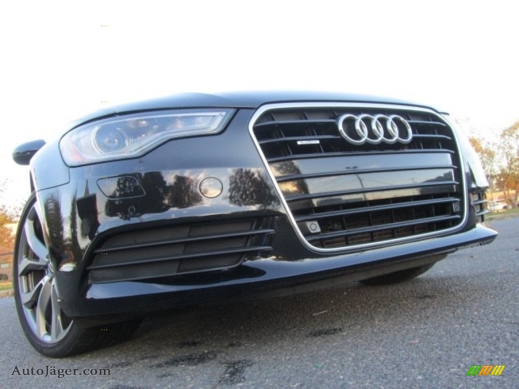 2014 A6 2.0T quattro Sedan - Phantom Black Pearl / Nougat Brown photo #1