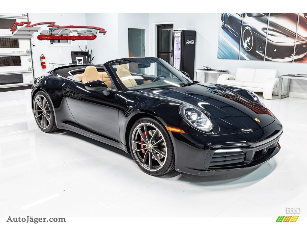 2020 911 Carrera S Cabriolet - Black / Black/Mojave Beige photo #1