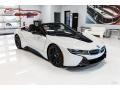 BMW i8 Roadster Crystal White Pearl Metallic photo #1
