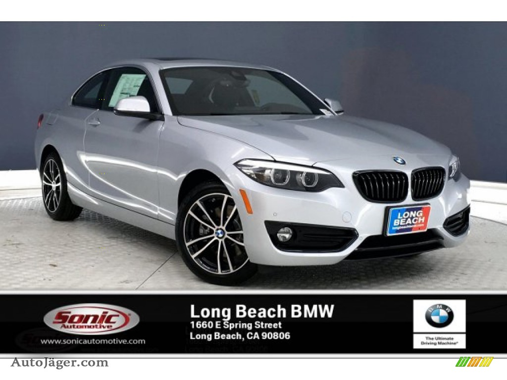 Glacier Silver Metallic / Black BMW 2 Series 230i Coupe
