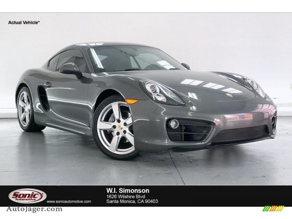 2014 Cayman  - Agate Grey Metallic / Black photo #1