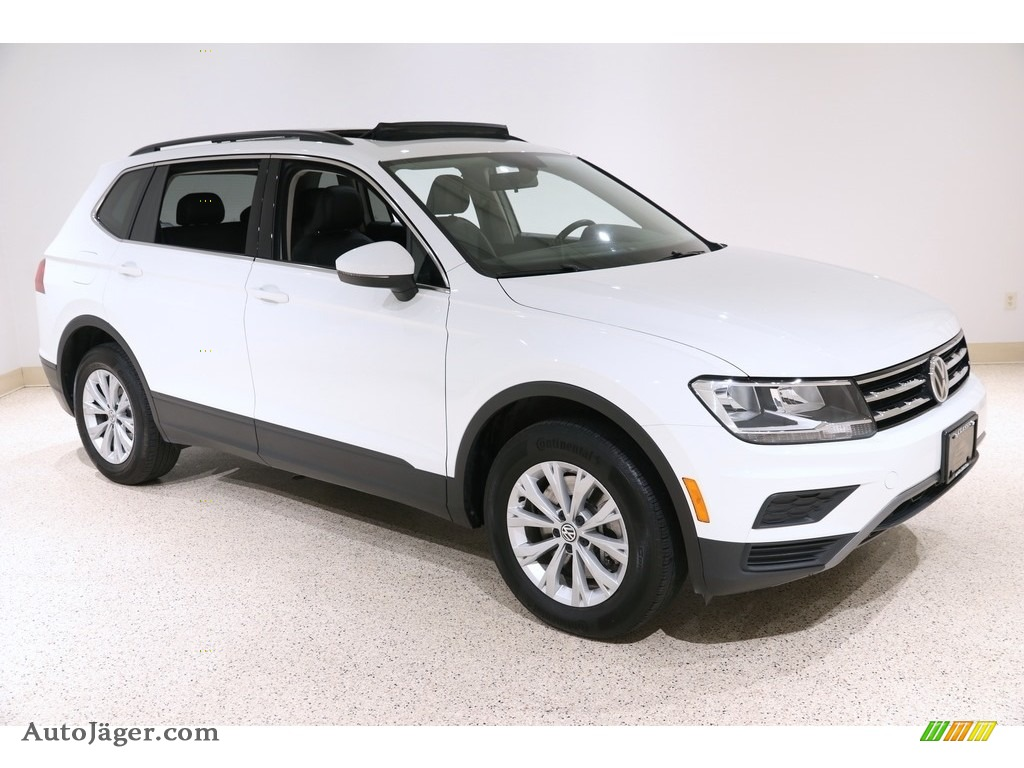 2019 Tiguan SE 4MOTION - Pure White / Titan Black photo #1