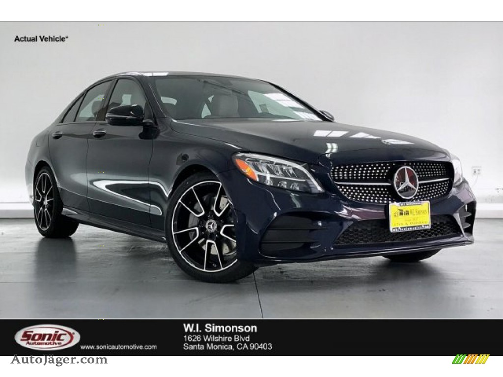 2020 C 300 Sedan - Lunar Blue Metallic / Silk Beige/Black photo #1