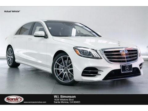designo Diamond White Metallic 2020 Mercedes-Benz S 560 Sedan