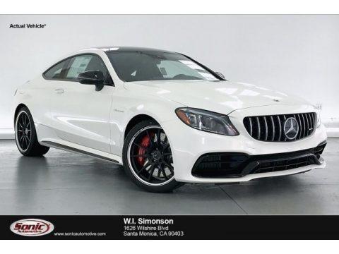 designo Diamond White Metallic 2020 Mercedes-Benz C AMG 63 S Coupe