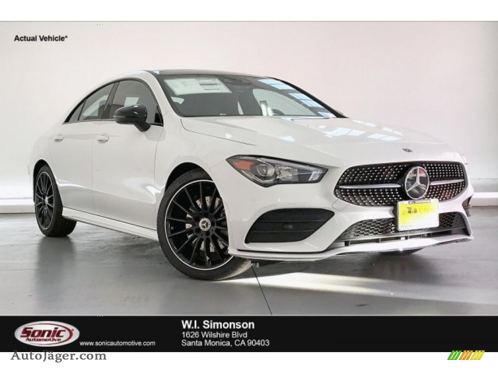 2020 CLA 250 Coupe - Digital White Metallic / Black Dinamica w/Red stitching photo #1