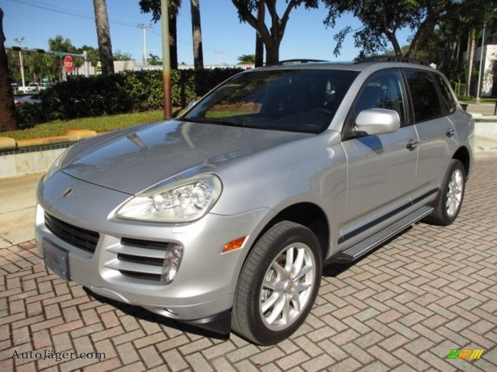2009 Cayenne  - Crystal Silver Metallic / Black photo #1