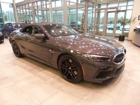 Brands Hatch Grey Metallic 2020 BMW M8 Convertible