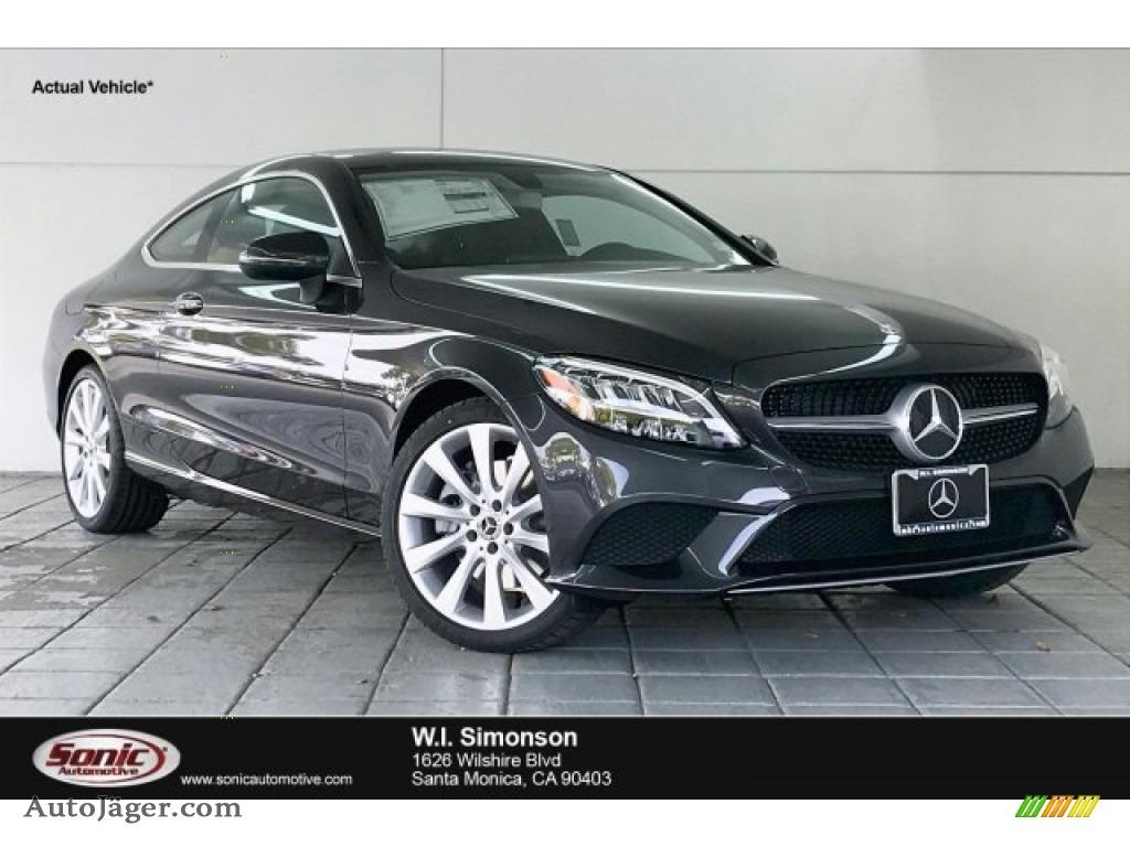 2020 C 300 Coupe - Graphite Grey Metallic / Magma Gray/Black photo #1