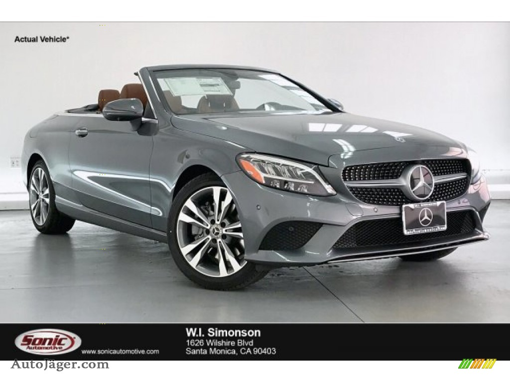 2020 C 300 Cabriolet - Selenite Grey Metallic / Saddle Brown/Black photo #1
