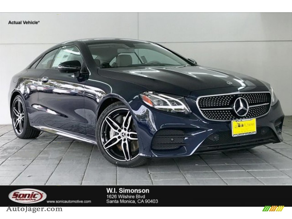 2020 E 450 Coupe - Lunar Blue Metallic / Macchiato Beige/Yacht Blue photo #1