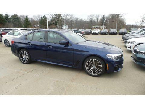Mediterranean Blue Metallic 2020 BMW 5 Series 540i xDrive Sedan