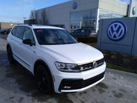 Pure White 2020 Volkswagen Tiguan SE R-Line Black 4MOTION
