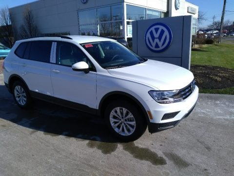 Pure White 2020 Volkswagen Tiguan S 4MOTION