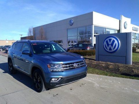 Pacific Blue Metallic 2019 Volkswagen Atlas SEL 4Motion