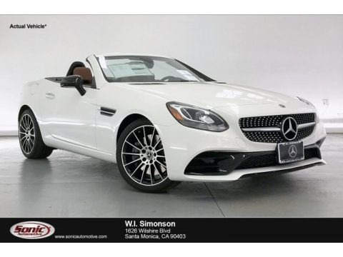 Polar White 2020 Mercedes-Benz SLC 300 Roadster