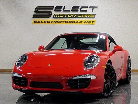 Guards Red 2014 Porsche 911 Carrera S Cabriolet