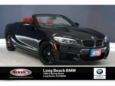 Black Sapphire Metallic 2020 BMW 2 Series M240i Convertible