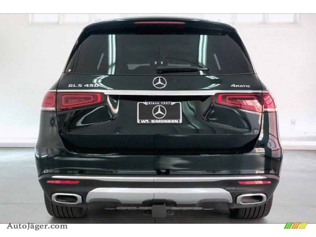 2020 GLS 450 4Matic - Emerald Green Metallic / Black/Magma Gray photo #3