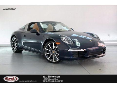 Dark Blue Metallic 2015 Porsche 911 Targa 4