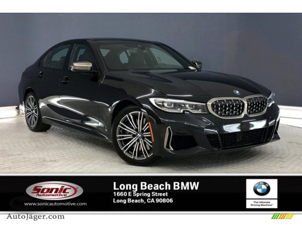 2020 3 Series M340i Sedan - Black Sapphire Metallic / Mocha photo #1