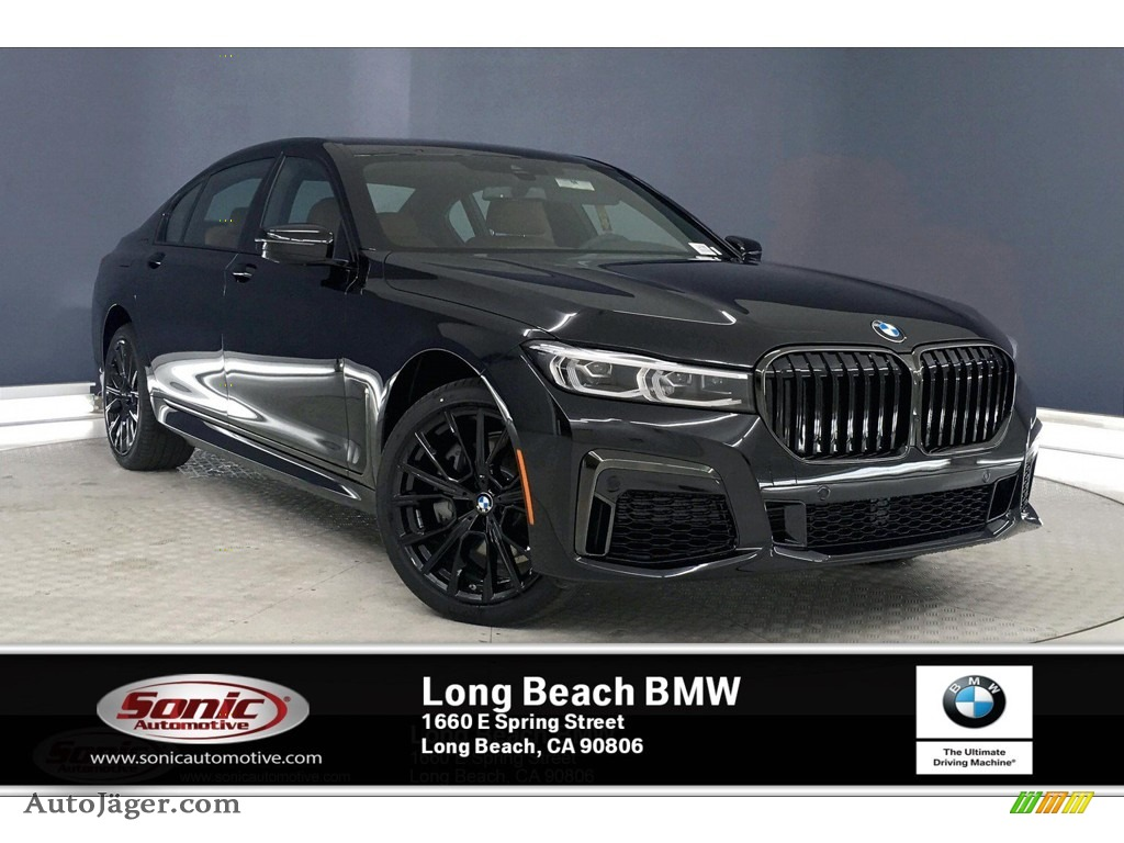 2020 7 Series 740i Sedan - Black Sapphire Metallic / Cognac photo #1