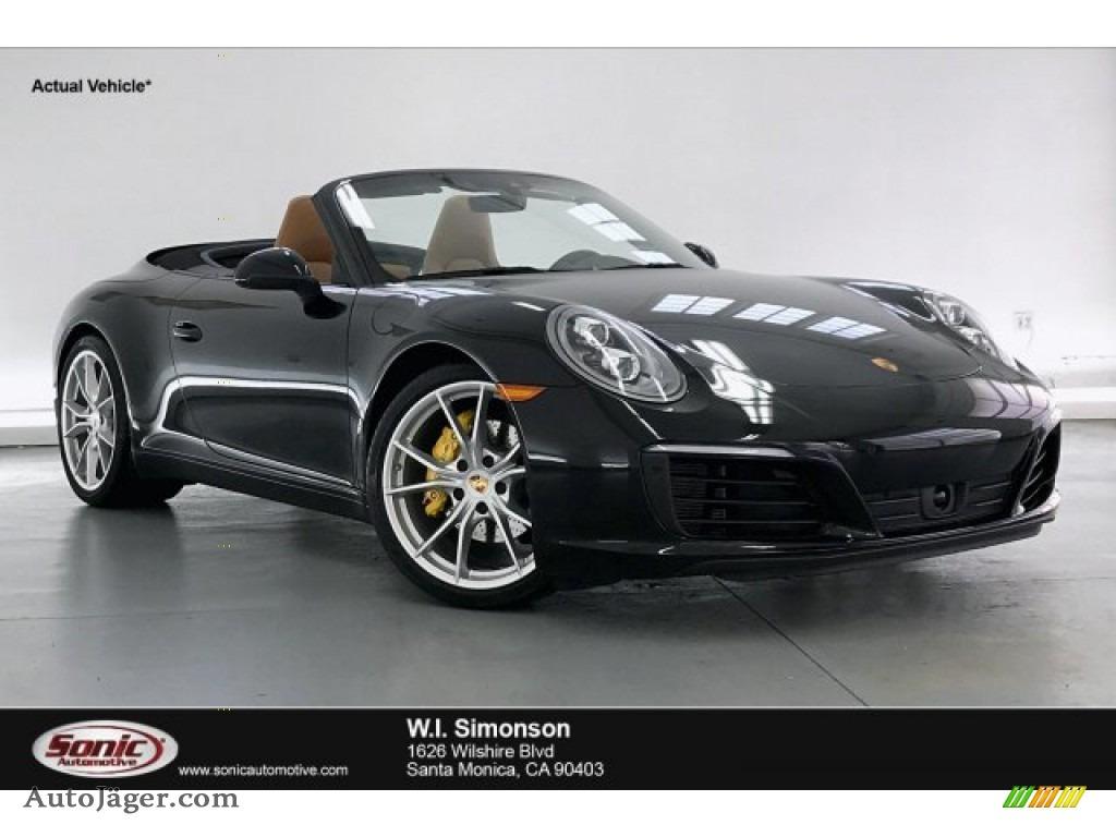 Black / Black/Luxor Beige Porsche 911 Carrera Cabriolet