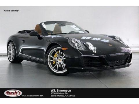 Black 2019 Porsche 911 Carrera Cabriolet