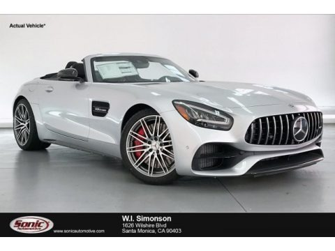 Iridium Silver Metallic 2020 Mercedes-Benz AMG GT C Roadster
