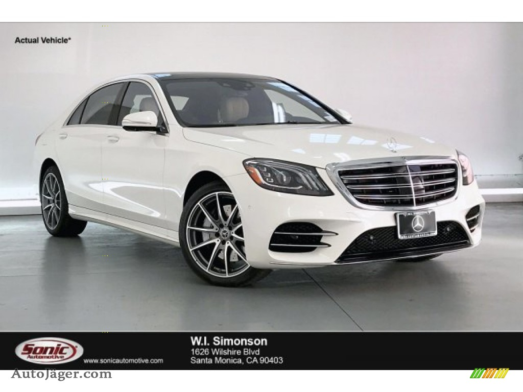 designo Diamond White Metallic / Porcelain/Black Mercedes-Benz S 560 4Matic Sedan