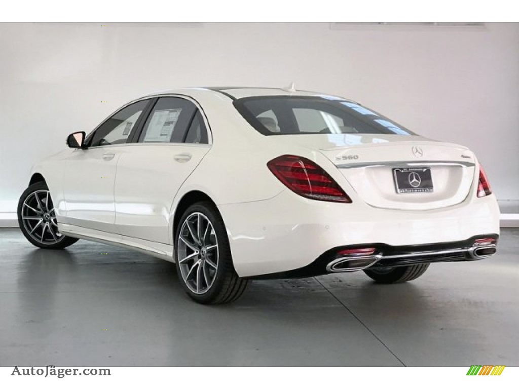 2020 S 560 4Matic Sedan - designo Diamond White Metallic / Porcelain/Black photo #2
