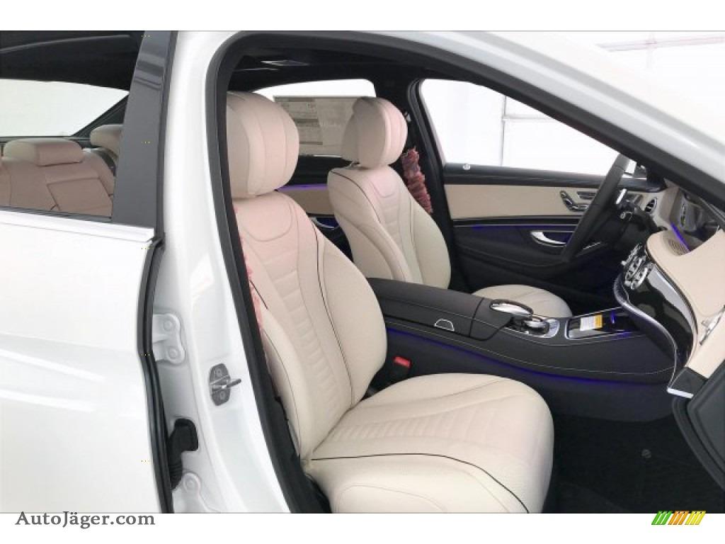 2020 S 560 4Matic Sedan - designo Diamond White Metallic / Porcelain/Black photo #5