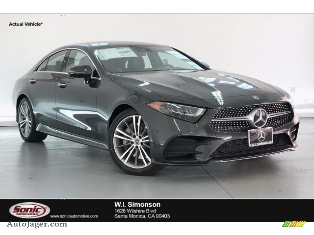 2020 CLS 450 Coupe - Graphite Gray Metallic / Magma Grey/Espresso Brown photo #1