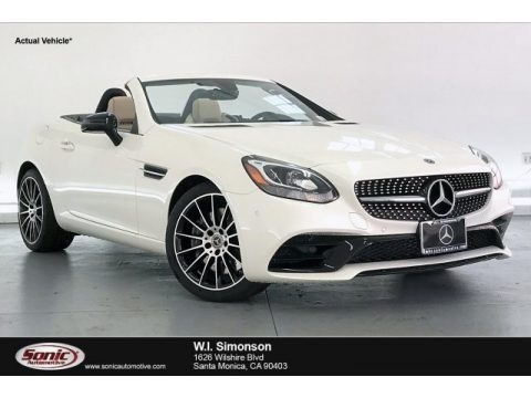 designo Diamond White Metallic 2020 Mercedes-Benz SLC 300 Roadster