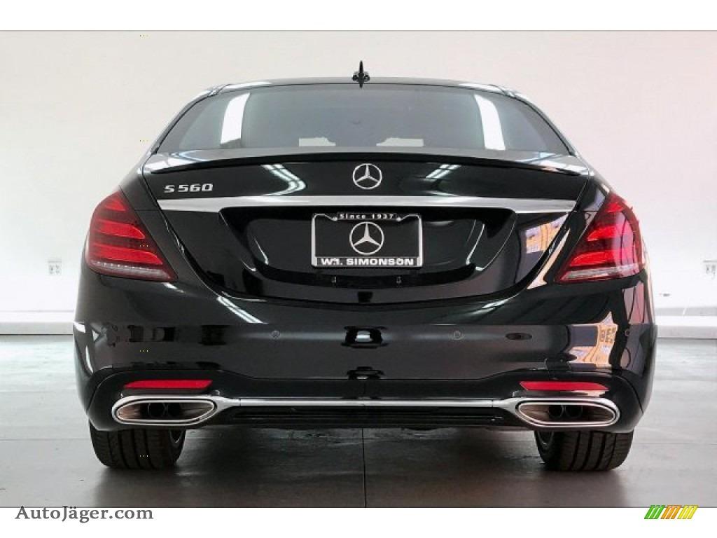 2020 S 560 Sedan - Black / Black photo #3
