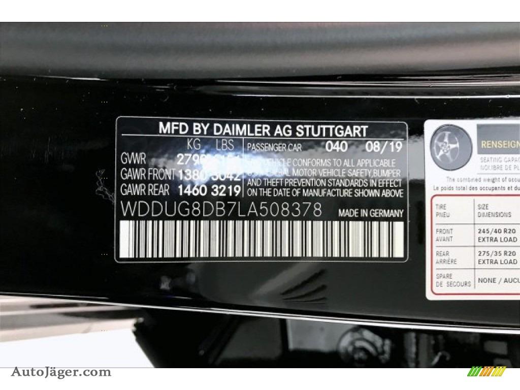 2020 S 560 Sedan - Black / Black photo #11