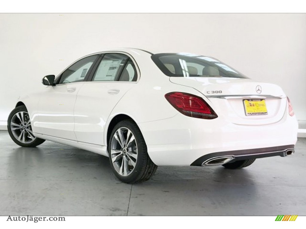 2020 C 300 Sedan - Polar White / Silk Beige/Black photo #2