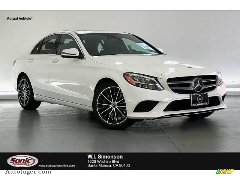 2020 C 300 Sedan - Polar White / Black photo #1