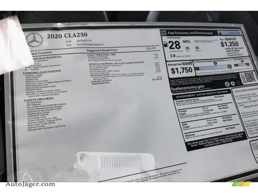 2020 CLA 250 Coupe - Mojave Silver Metallic / Macchiato Beige photo #10