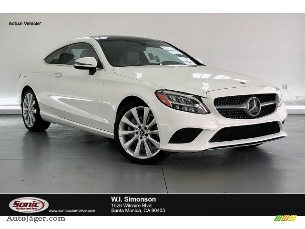 2020 C 300 Coupe - Polar White / Silk Beige/Black photo #1